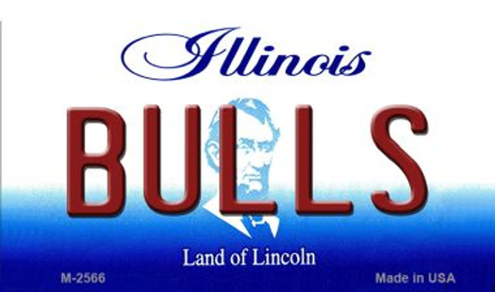Bulls Illinois State License Plate Magnet M-2566