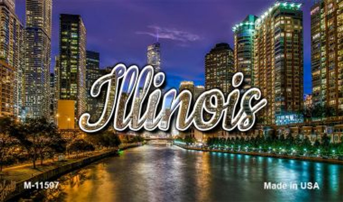 Illinois River City Lights Magnet M-11597