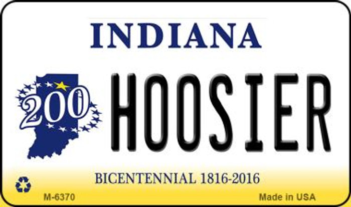 Hoosier Indiana State License Plate Novelty Magnet M-6370