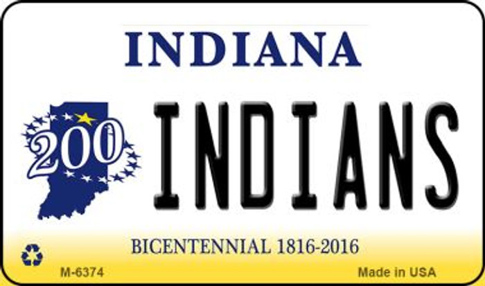 Indians Indiana State License Plate Novelty Magnet M-6374