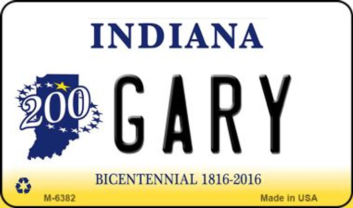 Gary Indiana State License Plate Novelty Magnet M-6382