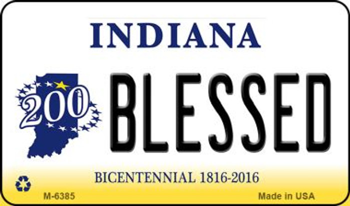 Blessed Indiana State License Plate Novelty Magnet M-6385