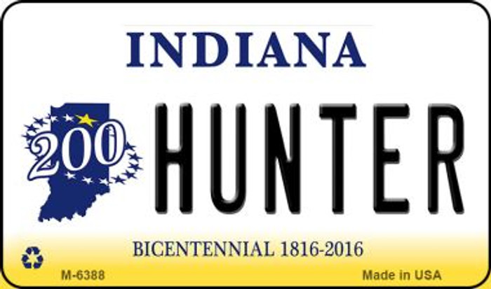 Hunter Indiana State License Plate Novelty Magnet M-6388