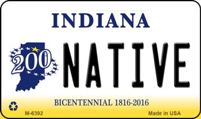 Native Indiana State License Plate Novelty Magnet M-6392