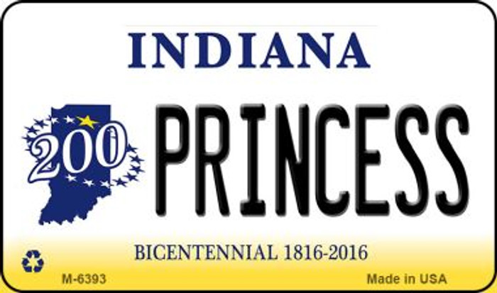 Princess Indiana State License Plate Novelty Magnet M-6393