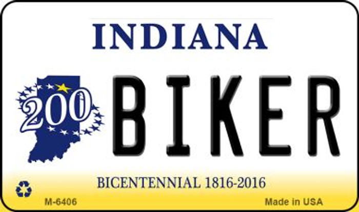 Biker Indiana State License Plate Novelty Magnet M-6406
