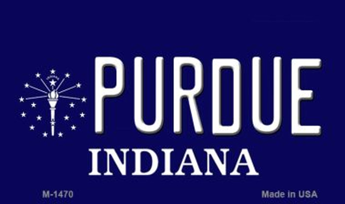 Purdue Indiana State License Plate Novelty Magnet M-1470