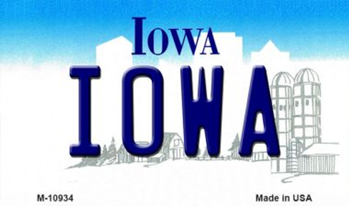 Iowa State License Plate Novelty Magnet M-10934