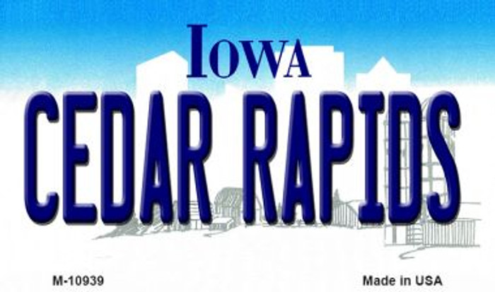 Cedar Rapids Iowa State License Plate Novelty Magnet M-10939