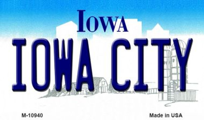 Iowa City State License Plate Novelty Magnet M-10940