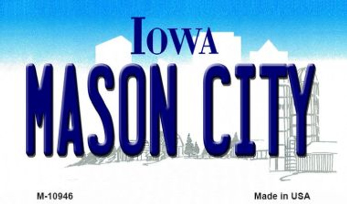 Mason City Iowa State License Plate Novelty Magnet M-10946