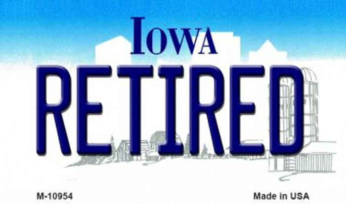 Retired Iowa State License Plate Novelty Magnet M-10954