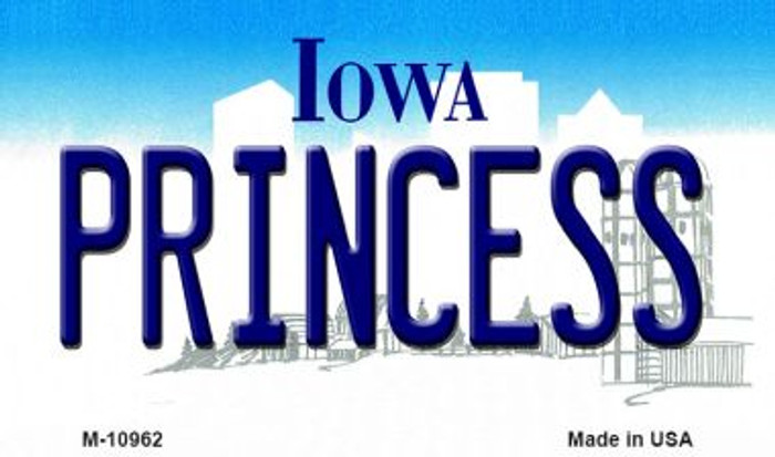 Princess Iowa State License Plate Novelty Magnet M-10962