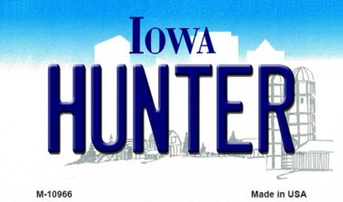 Hunter Iowa State License Plate Novelty Magnet M-10966