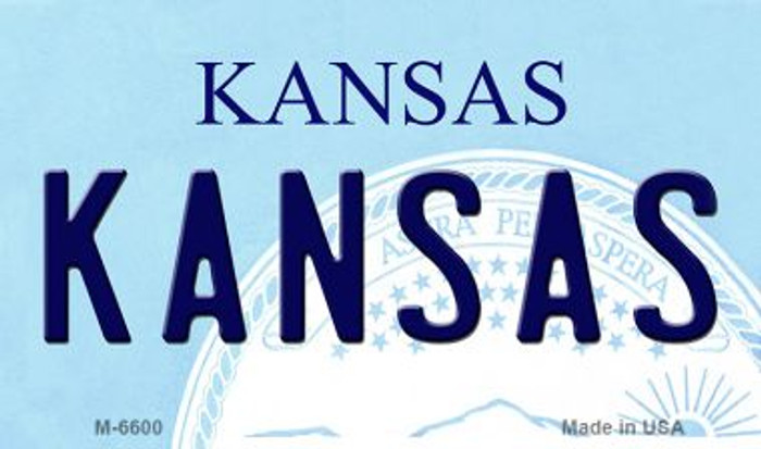 Kansas State License Plate Novelty Magnet M-6600