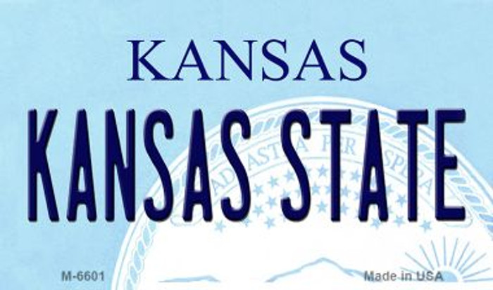Kansas State University License Plate Novelty Magnet M-6601