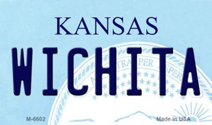 Wichita Kansas State License Plate Novelty Magnet M-6602