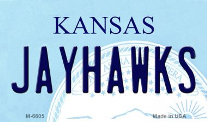 Jayhawks Kansas State License Plate Novelty Magnet M-6605