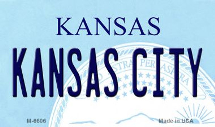 Kansas City State License Plate Novelty Magnet M-6606