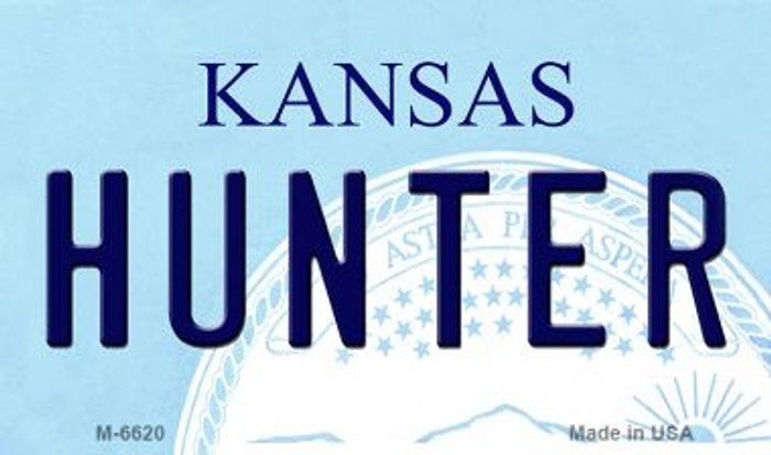 Hunter Kansas State License Plate Novelty Magnet M-6620