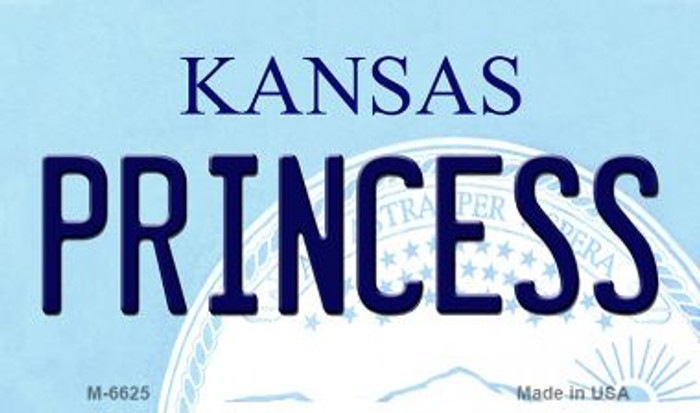 Princess Kansas State License Plate Novelty Magnet M-6625