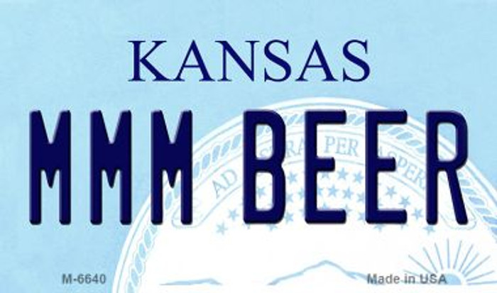 MMM Beer Kansas State License Plate Novelty Magnet M-6640
