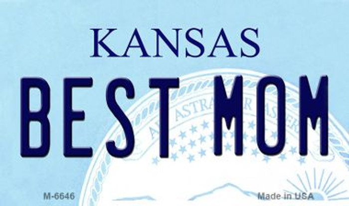 Best Mom Kansas State License Plate Novelty Magnet M-6646