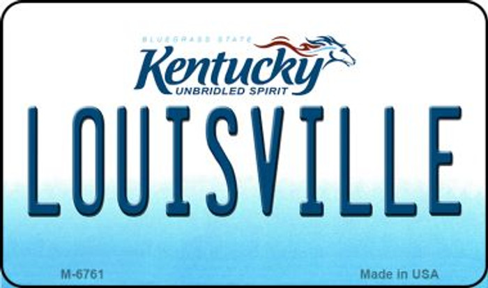 Louisville Kentucky State License Plate Novelty Magnet M-6761