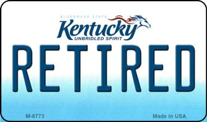 Retired Kentucky State License Plate Novelty Magnet M-6773