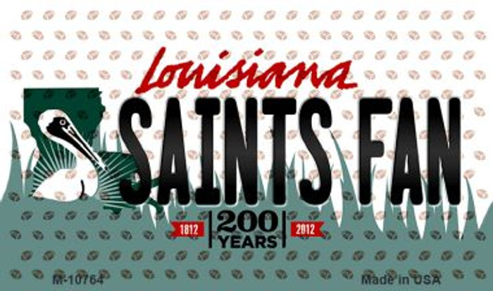 Saints Fan Louisiana State License Plate Magnet M-10764