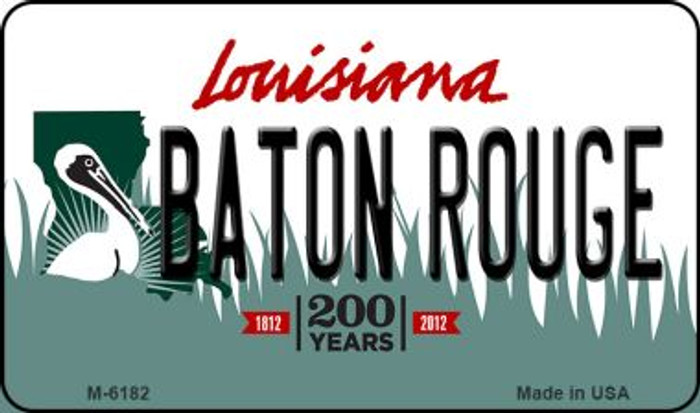 Baton Rouge Louisiana State License Plate Novelty Magnet M-6182