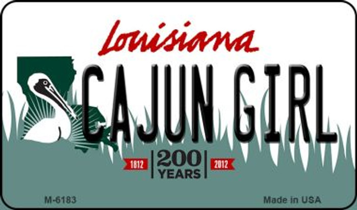 Cajun Girl Louisiana State License Plate Novelty Magnet M-6183