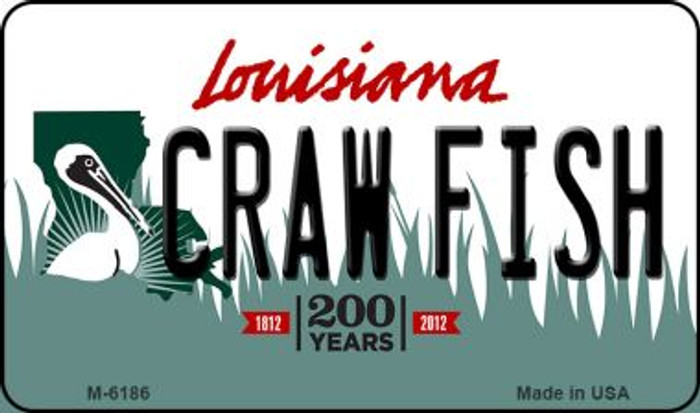 Craw Fish Louisiana State License Plate Novelty Magnet M-6186