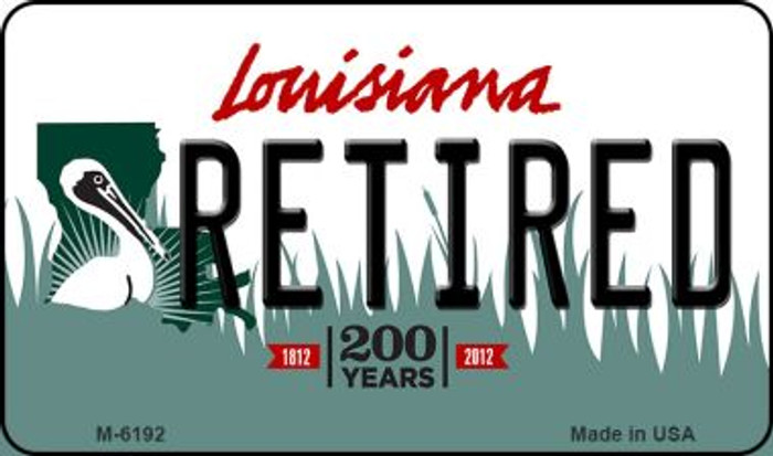 Retired Louisiana State License Plate Novelty Magnet M-6192