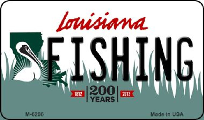 Fishing Louisiana State License Plate Novelty Magnet M-6206