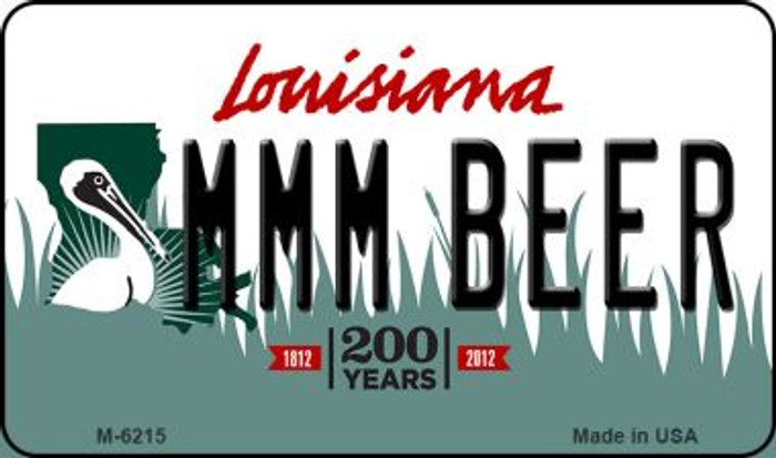 MMM Beer Louisiana State License Plate Novelty Magnet M-6215