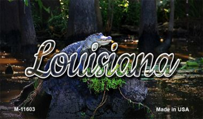 Louisiana Alligator Swamp Magnet M-11603