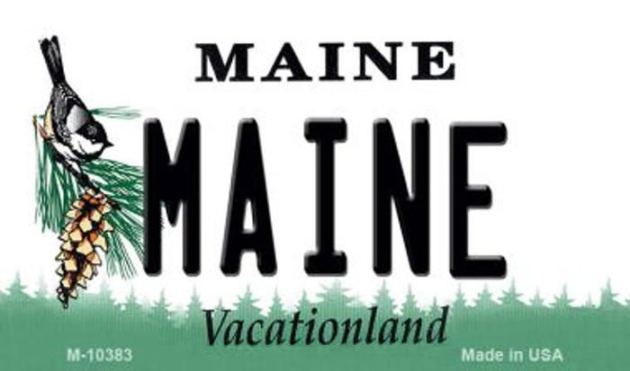 Maine State License Plate Magnet M-10383