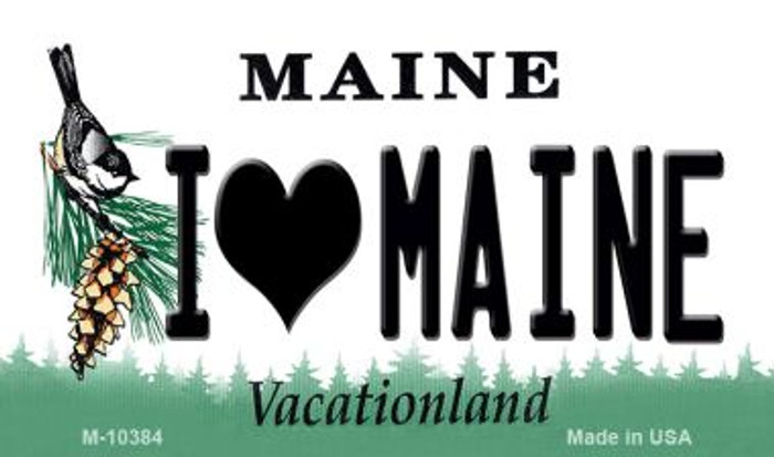I Love Maine State License Plate Magnet M-10384