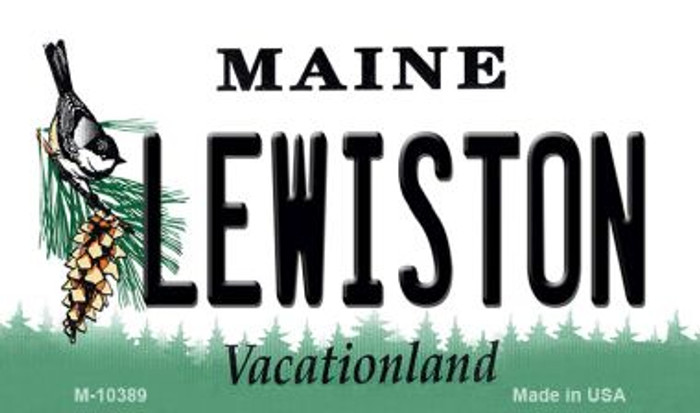 Lewiston Maine State License Plate Magnet M-10389