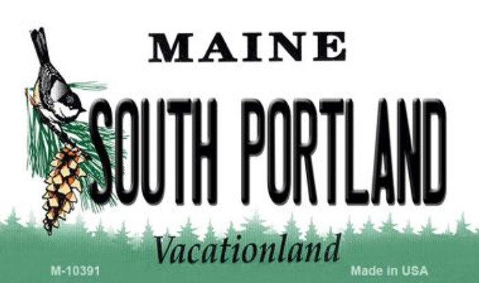 South Portland Maine State License Plate Magnet M-10391