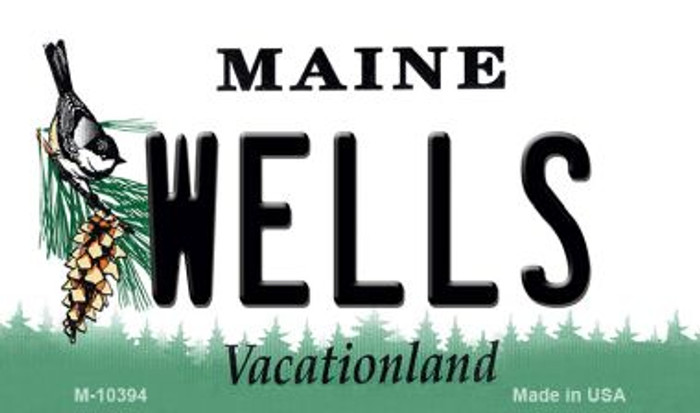 Wells Maine State License Plate Magnet M-10394