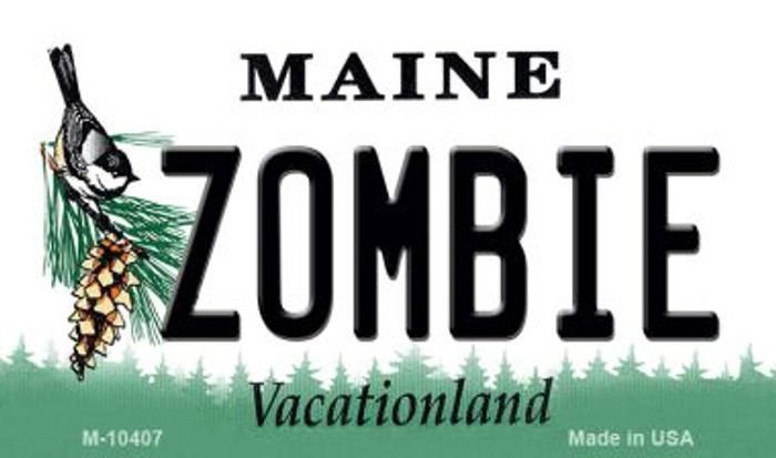 Zombie Maine State License Plate Magnet M-10407