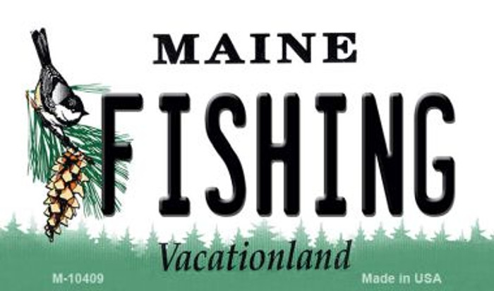 Fishing Maine State License Plate Magnet M-10409