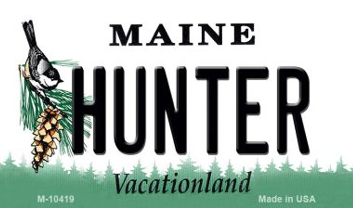 Hunter Maine State License Plate Magnet M-10419