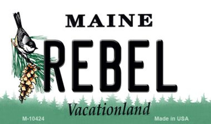 Rebel Maine State License Plate Magnet M-10424