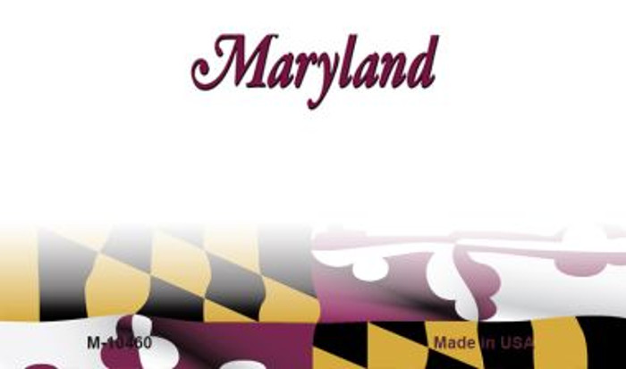 Maryland Blank State License Plate Magnet M-10460