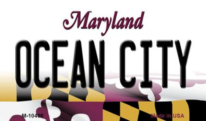 Ocean City Maryland State License Plate Magnet M-10466