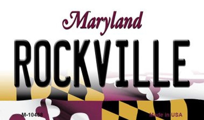 Rockville Maryland State License Plate Magnet M-10468