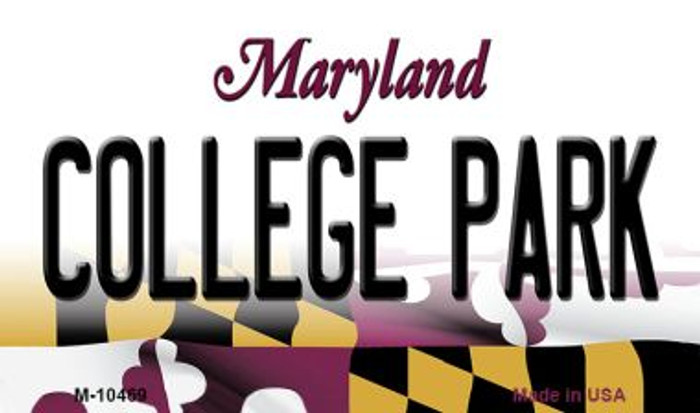 College Park Maryland State License Plate Magnet M-10469